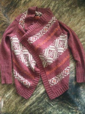 Asymmetrischer Cardigan verschlusslos Norweger Scandi Style