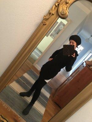 Jersey con capucha negro lana de alpaca