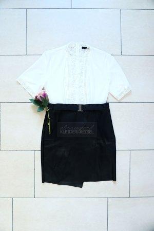Asymmetrischer Lederrock (Kunstleder) Midi Pencil Skirt