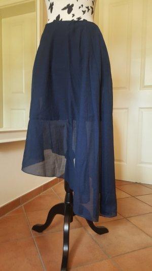 COS Falda asimétrica azul-azul oscuro