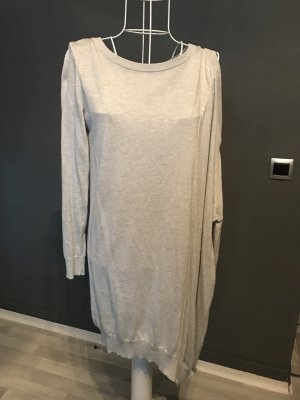 All Saints Pull long gris clair tissu mixte