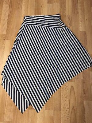 Amisu Jupe asymétrique blanc-noir