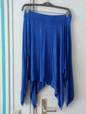 Yessica Falda asimétrica azul acero