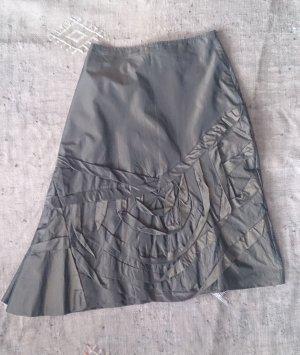 Tandem Asymmetry Skirt olive green acetate