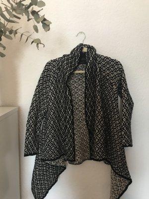 Zara Cardigan in maglia nero-bianco