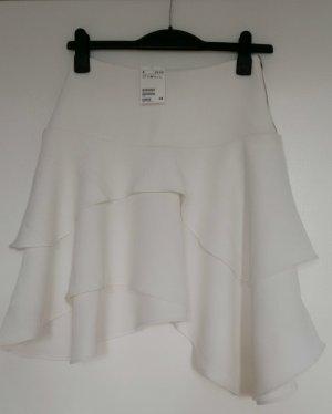 asymmetrischer weißer H&M Rock Größe 36