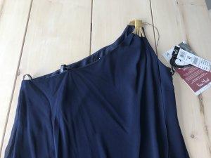 Asymmetrisches Abendkleid Vera Mont Dunkelblau mit Gold Gr. 42 Silvester