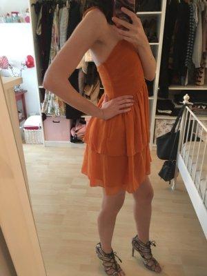 H&M One Shoulder Dress dark orange