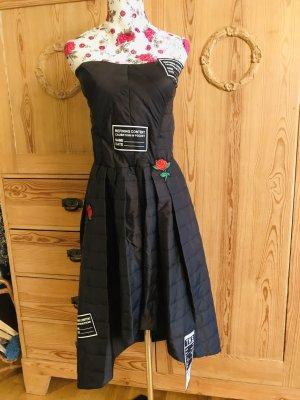 Rinascimento Robe à corsage noir tissu mixte