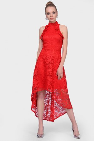 High Low Dress red