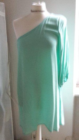 asymmetrisches Kleid mint aqua einärmlig 36 38