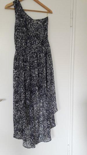 Asymmetrisches Kleid mit Leo-Print