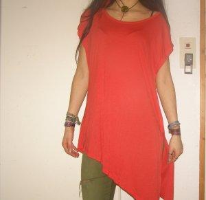 asymmetrisches Longshirt mit Schlitz