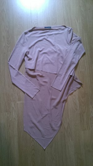 Zara Top à manches longues rose chair polyester