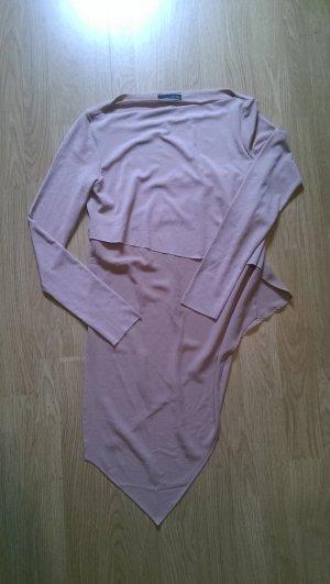 Asymmetrisches Shirt in Pudertönen von Zara