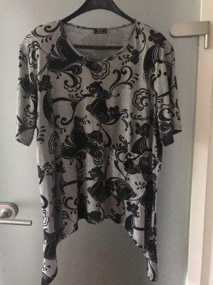 AKH Design Print Shirt light grey-black