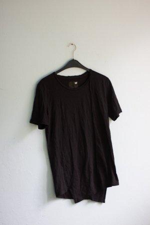 Asymmetrisches T-Shirt schwarz cool Minimum used look