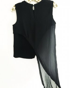 asymmetrisches top • vintage • japan fashion • schwarz • classy