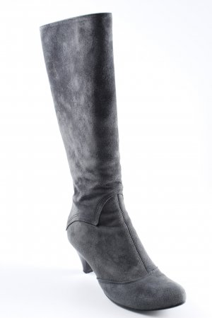 Atelier Heel Boots dark grey simple style