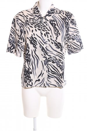 Atelier Creation Shirt Blouse cream-black abstract pattern casual look