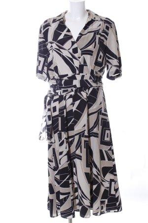 Atelier Creation Robe à manches courtes imprimé allover style classique