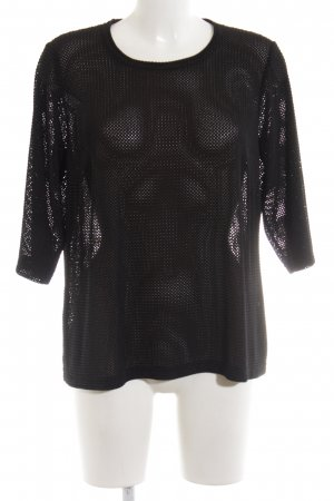 Atelier Creation Crewneck Sweater black extravagant style