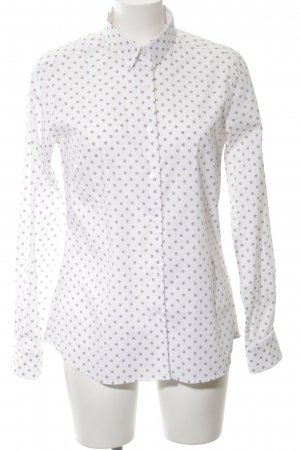 Atelier Gardeur Shirt Blouse white-black spot pattern business style