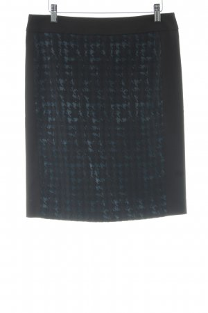Atelier Gardeur High Waist Skirt black-slate-gray houndstooth pattern elegant