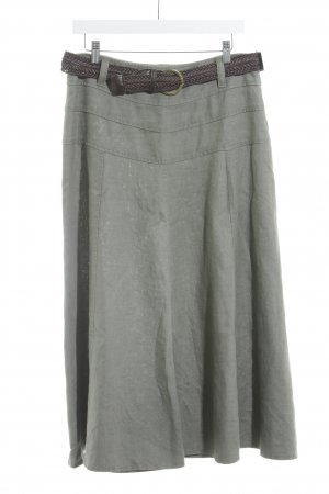 Atelier Gardeur Midi Skirt dark brown-olive green casual look