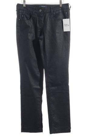 Atelier Gardeur Pantalón de tubo azul oscuro reluciente