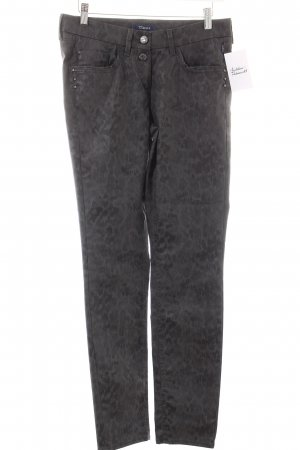 Atelier Gardeur Drainpipe Trousers grey-anthracite animal pattern reptile print