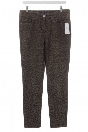 Atelier Gardeur Slim Jeans grey brown-dark brown leopard pattern casual look