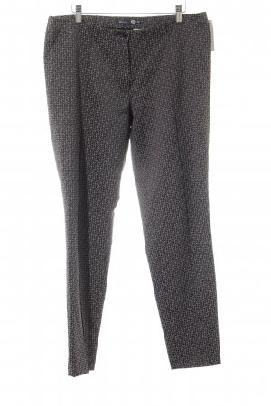 Atelier Gardeur Jersey Pants anthracite-light grey abstract pattern