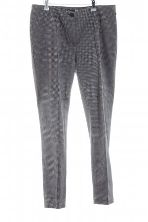 Atelier Gardeur Jersey Pants black-light grey allover print business style