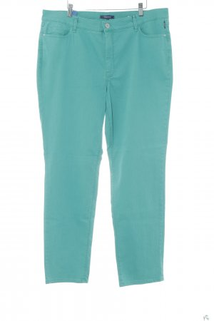 Atelier Gardeur Straight Leg Jeans lime-green flecked simple style