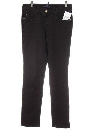 Atelier Gardeur Jeans a gamba dritta nero stile classico