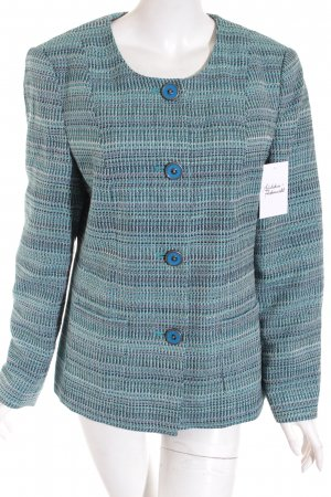 Atelier Goldner Schnitt Blazer turquoise Motif de tissage style d'affaires