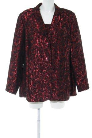 Atelier Goldner Schnitt Tailleur rouge-noir imprimé allover style d'affaires