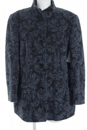 Atelier Goldner Schnitt Veste en laine bleu acier-noir motif abstrait