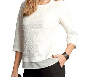 Atelier GS Modisches Blusen Shirt Gr. 48 cremeweiß NEU