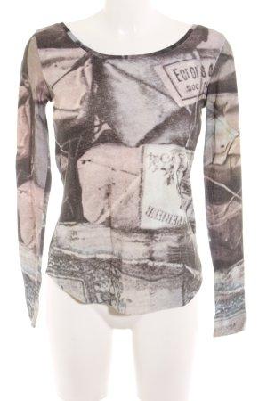 Atelier Kraagloze sweater Patroon-mengeling atletische stijl