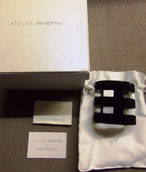 Atelier Swarovski Viktor & Rolf Armreif Größe AS = 7 cm x 6,5 cm in Box mit Zertifikat wie neu