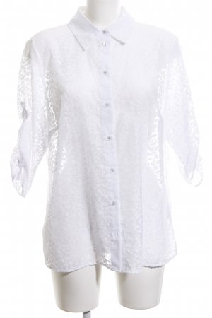 Atelier Transparent Blouse white allover print casual look