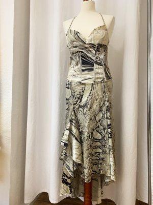 Cavalli Robe à corsage multicolore tissu mixte