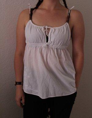 Aterrisage Top Bestickt M 36 38 weiß Blumen süß romantisch Shirt Oberteil