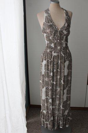 Athmosphere 100%Viskose Maxikleid Neckholder Kleid lang Sommerkleid hippie ethno Gr. 36 S