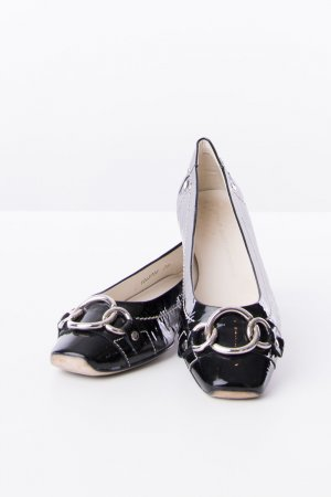 AGL Patent Leather Ballerinas black leather
