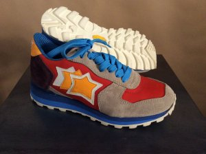 Atlantik STARS Sneaker beige/blau/rot/orange/weiß/aubergine Gr. 36