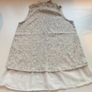 Atmosphere ärmellose Bluse, beige grau meliert, Gr.: M/38