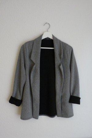 Atmosphere Blazer Jacke Cardigan S M 38 grau meliert Business Casual Fashion Blogger